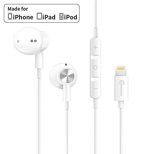 Lightning Kopfhörer mit Mikrofon, Kimwood Kopfhörer mit Magnetische Ohrhörer für iPhone 11/11 Pro/iPhone X/XS/XS Max/XR iPhone 8/8 Plus/ 7/7 P/ipad