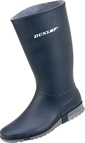 Dunlop 1612 Damen - Gummistiefel Sport Blau (36, Blau)