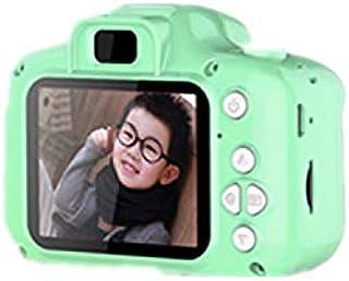 Qiyun Kids Digital Video Camera Mini Rechargeable Children Camera Shockproof 8MP HD Toddler Cameras Child Camcorder Green