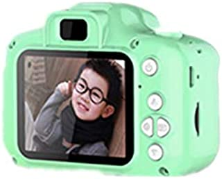 FairOnly Kids Digital Video Camera Mini Rechargeable Children Camera Shockproof 8MP HD Toddler Cameras Child Camcorder Green