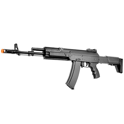 BBTac AK-47 Airsoft Gun, Electric Airsoft Assault Rifle Fully Automatic AEG with Battery & Charger, Magazine, Shoots 6mm Airsoft Pellets