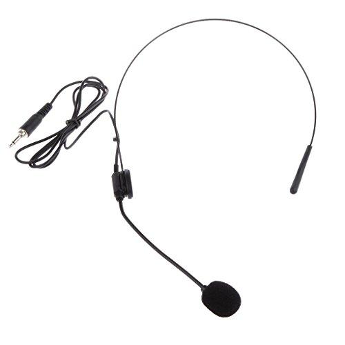 MagiDeal Système Noir sans Fil électret Serre-tête De Microphone Bouchon De Type Vertical