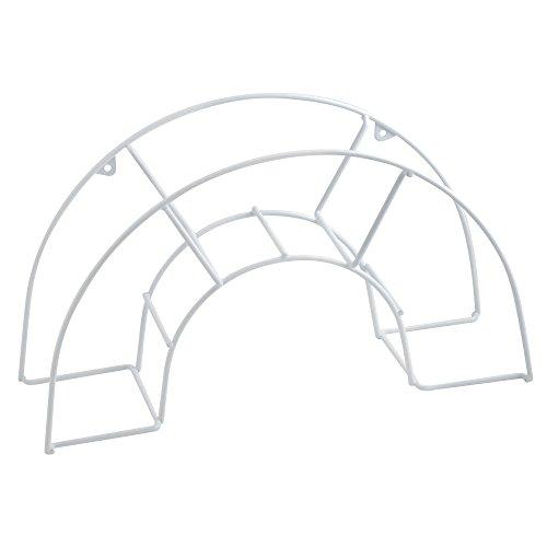 Metaltex 356805 - Colgador de manguera mural plastificado grande, 46 x 15 x 26 centímetros