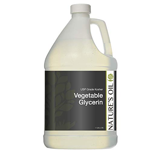 Nature's Oil (USP Grade-Kosher) Vegetable Glycerin 100% Pure (10 lbs) Gallon