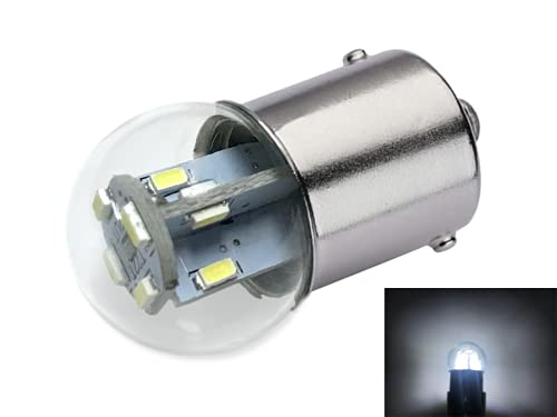 #89 Miniature Bulb LED Replacement | 12/14vdc | Light Color: Bright White | Dimmable | Replaces #67, 69, 89, 9421777, 98, 1247, 441067-1, 97, 631, 89LL, 1155, 97-I (Bright White)