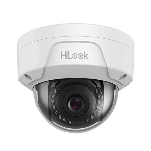 HiLook Door Hikvision IPC-D140H-M 4mm Lens 4MP IP PoE Dome Netwerk Camera Vandaal Bewijs Met 30m Nachtzicht - Wit