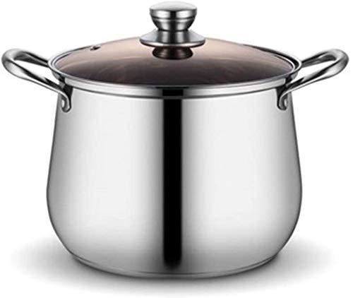 XY-M Cocina de Vapor de Acero Inoxidable Sopa de Acero Inoxidable Potador de Sopa de Acero Inoxidable Vapor de Acero Extra Dick Profundidad Profunda Grande Capacidad 304 Universal para Silverb 2cm