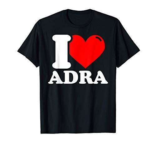 I love Adra Camiseta