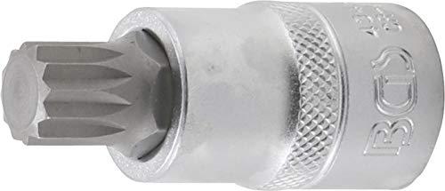 """BGS 4344   Punta de vaso   entrada 12,5 mm (1/2"""")   dentado múltiple interior (para XZN) M14"""