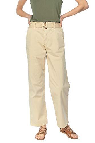 LTC Le Temps Des Cerises Pantalón Chino Serena para Mujer de Tiro Alto con CinturónModelo PFSERENA0WPIG Color Beige (1063 Seedpearl) (28)