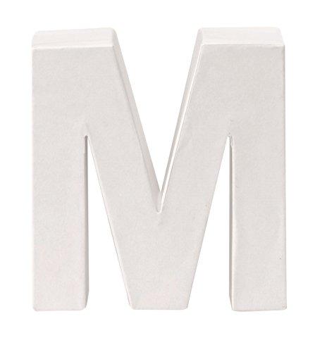 GLOREX Papp-Buchstabe M, Braun, 10  x  9  x  3,5 cm