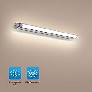 OOWOLF Lámpara De Espejo Led, 18W Lámpara De Baño Espejo 60cm 4000k Blanca Neutro Luz De Espejo Luz Dirección Ajustable…