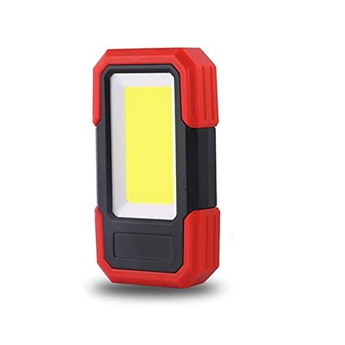 KOLOSM Linterna Camping Trabajo Light Magnetic Base & SLINT BATERY FLATERY FLORTE LÁMPARA DE Trabajo DE Trabajo para LA REPARACIÓN del Coche Camping Emergencia (Wattage : Red)