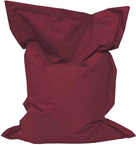 Giant Bag Sitzsack GiantBag Chill Out Liege & Sitzkissen Indoor & Outdoor Tobekissen Bodenkissen Sessel für Kinder & Erwachsene (160 x 120 cm, Weinrot)