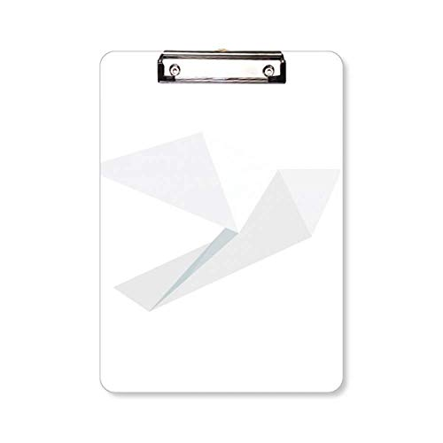 Origami Abstract Witte Duif Patroon Klembord Folder Schrijven Pad Achterplaat A4