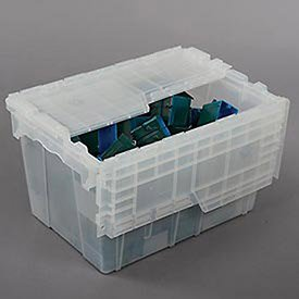 Price comparison product image ORBIS Flipak Attached Lid Container,  21-4 / 5 x 15-1 / 5 x 12-9 / 10,  Clear