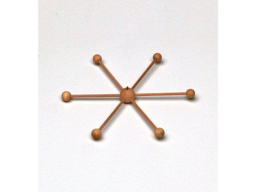 efco blank Mobile Star mit 13Teile für Doll Making, Holz, braun, 22cm Durchmesser