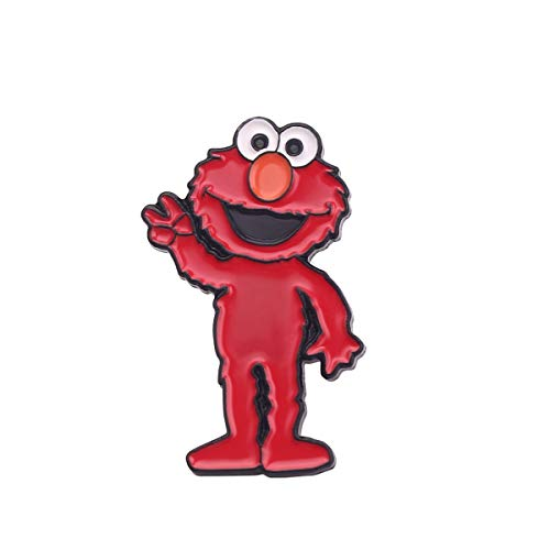 JiuErDP 2 stücke Sesamstraße Aimo Cookie Monster Cartoon Metall Brosche Abzeichen Broschen (Color : A)