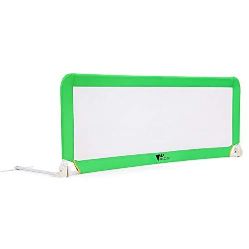 amzdeal Barrière de Lit Portable bébé Enfant, Barrière de sécurité Lavable en Nylon + Plastique 150 * 50 * 40cm (Vert)