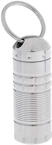 Mini Capsule Outdoor Titanium Legering Container Fles Waterdichte Pil Doos Kleine Onderdelen Opbergdoos Pillbox Sleutelhanger