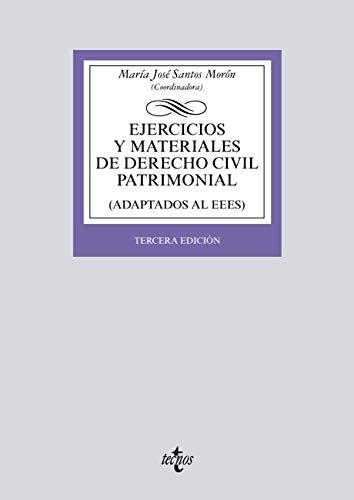 Ejercicios y materiales de Derecho Civil Patrimonial: Tercera edición (Derecho - Biblioteca Universitaria de Editorial Tecnos)