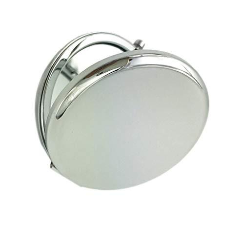 wufeng Miroir de Maquillage de Couleur Solide en métal Ronde Double-Side Pop-Up Portable Pocket Mirror Accessoires Beauté