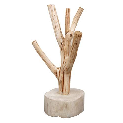 UPKOCH Porte-tasses en bois - Support pour tasse à café - Arbre - Présentoir à bijoux - Boucles d'oreilles - Collier pour décoration principale