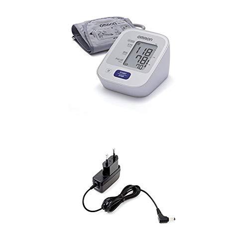 OMRON Healthcare M2 Misuratore di Pressione Sanguigna e Polso da Braccio, Bracciale 22-32 cm + Alimentatore AC per Misuratore di Pressione M2, M3, M6, M7 e Aerosol C803