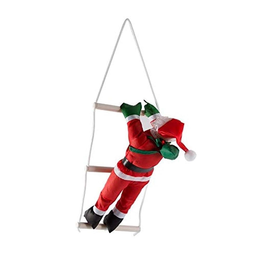 キャプテン抜本的なヘルメット甘いクリスマスデコレーションサンタクロース登山階段クリスマスツリーの飾りサンタクロースギフトハンギングを与える-赤