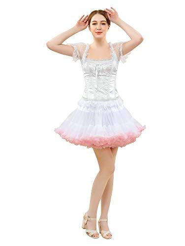 FOLOBE Traje de Tutú de Mujer Danza de Ballet Falda Hinchada de Múltiples Capas Adulto Enagua Suave
