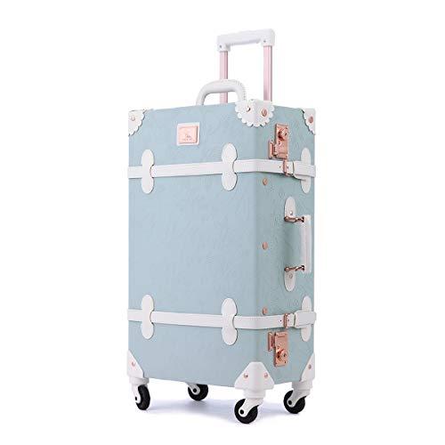 Uniwalker かわいい キャリーケース TSAロック トランクケース 復古主義 旅行 出張 静音四輪 可愛い スーツケース 女の子 S型 キャリーバッグ 機内持込可