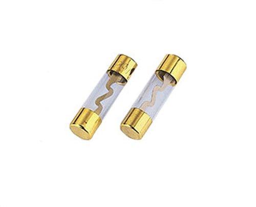 Hama Glassicherung 2 Stück, KFZ Feinsicherung , 10 x 38mm, 60A, vergoldet