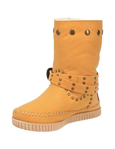 Dingo Women's Malibu Western Boot Round Toe Yellow 9.5 M
