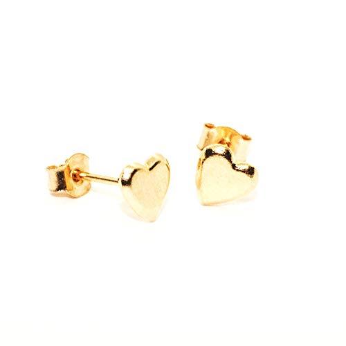 Arranview Jewellery Heart Stud Earring - 9ct Gold
