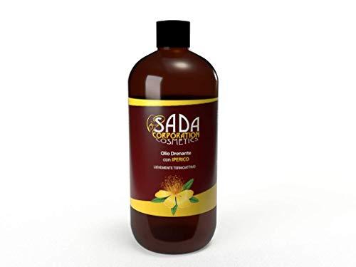 SADA Olio Drenante con Iperico - Azione rassodante, termica, tonificante, ideale per pelli con inestetismi