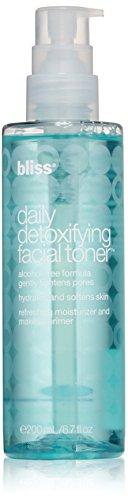 bliss Daily Detoxifying Facial Toner   Effective Toner, Light Moisturizer, & Makeup Primer   With Rose Water, Sodium Hyaluronate, & Malachite Extract   Alcohol Free   6.7 fl. oz