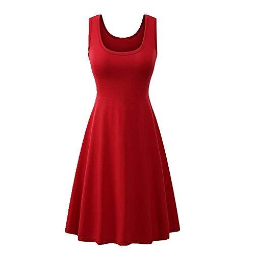 Vestido de verano con cuello en U falda de chaleco de mujer sastrería tridimensional