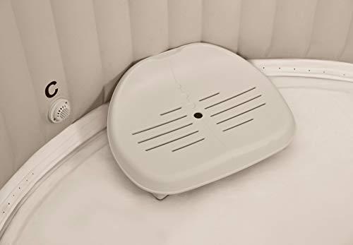 Intex PureSpa Whirlpoolzubehör - Kunststoff-Sitz höhenverstellbar - 47 x 36 x 22 cm - Beige