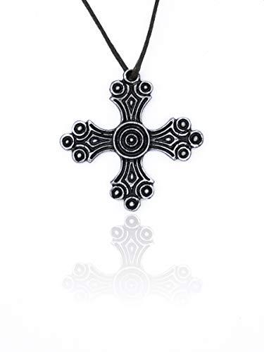 Eviltailors Colgante Cruz Cristiana Medieval Estilo Nórdico Medieval para Hombre y Mujer Aleación