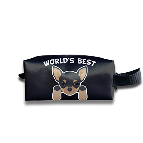 World's Best Chihuahua Mom Storage Bag Tote-Handbags Cosmetic Pouch Portable Travel Makeup Tote Bag Pen Case Bag Space Saver Bags Medicine Package Sewing Kit