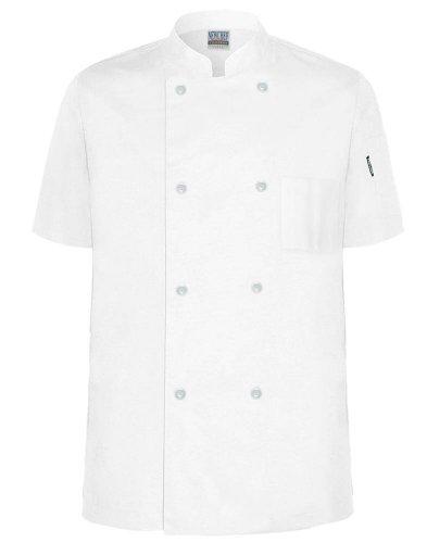 Newchef Fashion White Econo-Chef Coat Short Sleeves M White