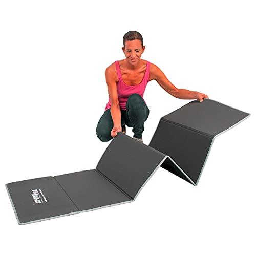 Sport-Tec Gymnastikmatte faltbar Klappmatte, LxBxH 180x60x0,7 cm, grau