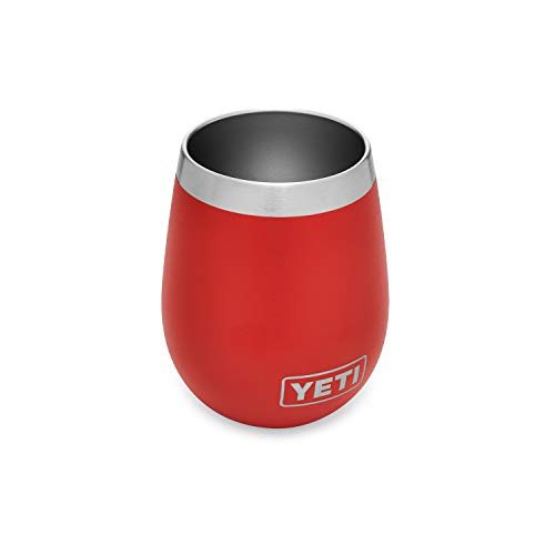 YETI Rambler 10 oz Wine Tumbler, Vacuum Insulated, Stainless Steel, Canyon Red