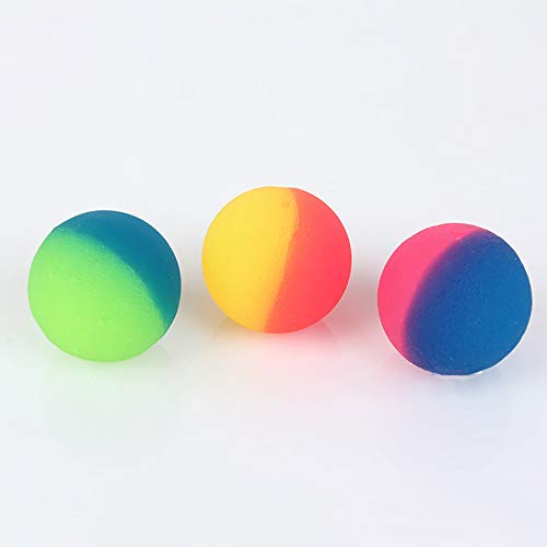 Rongxin 3 pezzi/set di palline colorate miste palline gonfiabili per bambini elastici in gomma per bambini per il bagno all'aperto elastico (colore : 42mm)