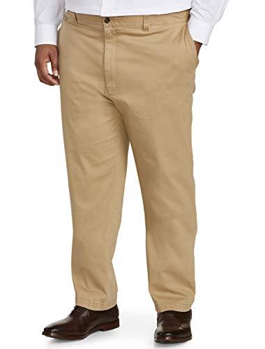 Amazon Essentials Men's Big-Tall Athletic-Fit Casual Stretch Khaki Pant Pants, -Dark Khaki, 48W x 30L
