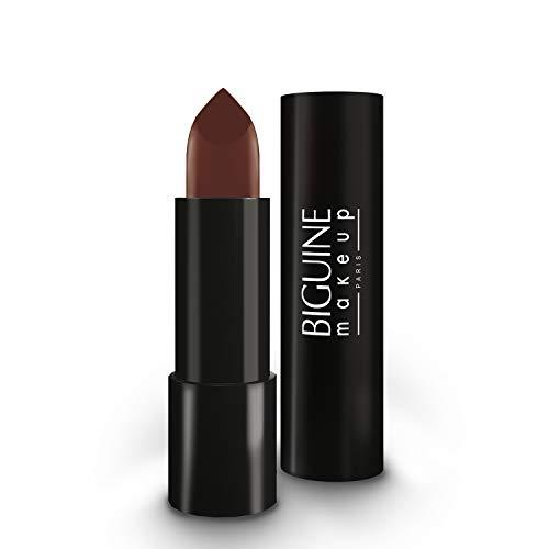 BIGUINE MAKEUP PARIS - Color & Plump - Effet Répulpant - Rouge à Lèvres - Lipstick - Contient de l' Acide Hyaluronique - Beige Moka - 3,3 g