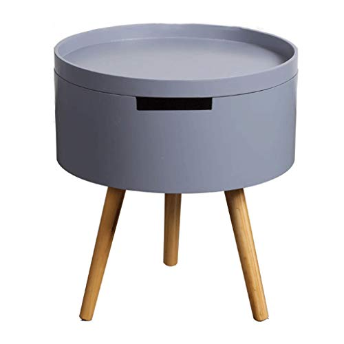 YULAN Petite Table de lit Ronde Simple Petite Table de Salon Nordique (Color : Gray)