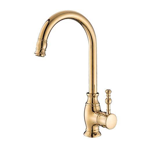 Grifos de Ducha Juego de Ducha Dorada Grifo Monomando para bañera de Agua fría y Caliente Ducha Simple