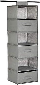 Amazon Basics 6-Tier Hanging Shelf Closet Storage Organizer