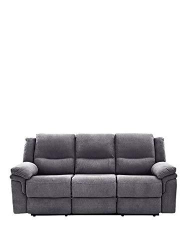 Sofá reclinable manual de tela de 3 plazas para sala de estar, dormitorio, habitación de invitados en casa, oficina,...